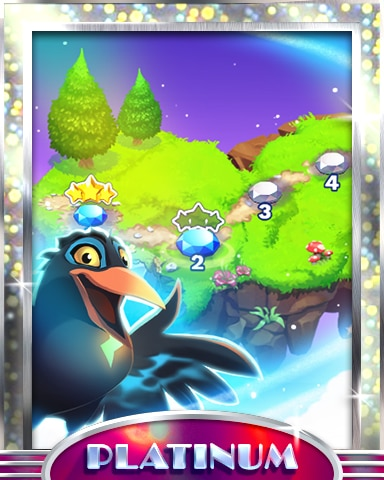 Islands In The Sky Platinum Badge - Bejeweled Stars
