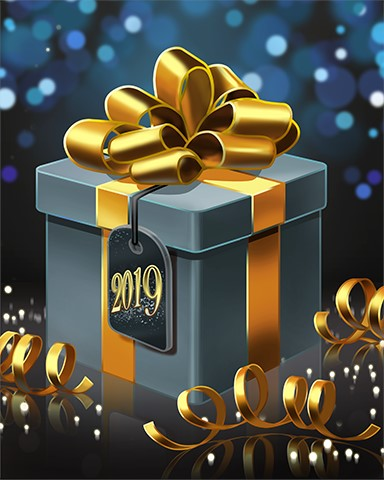 Golden Giftbox Badge - First Class Solitaire HD