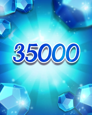 Blue Jewels 35000 Badge - Jewel Academy