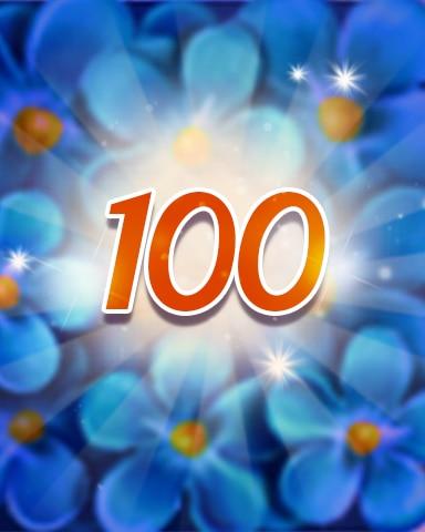 Flowers 100 Badge - Jewel Academy