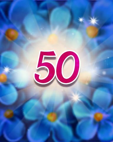 Flowers 50 Badge - Jewel Academy