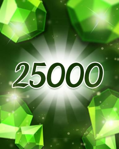 Green Jewels 25000 Badge - Jewel Academy