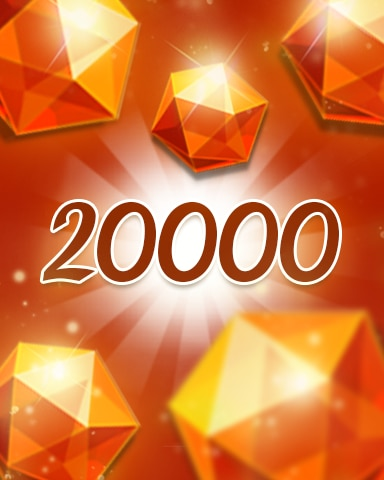 Orange Jewels 20000 Badge - Jewel Academy