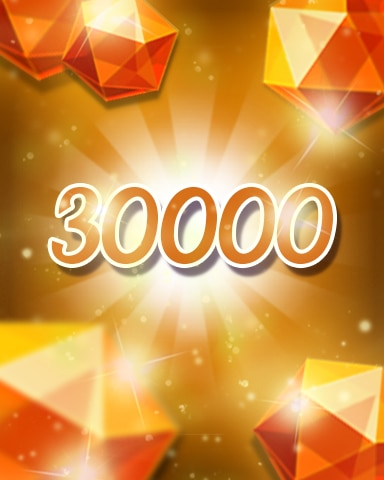 Orange Jewels 30000 Badge - Jewel Academy