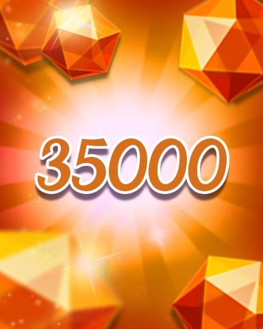 Orange Jewels 35000 Badge - Jewel Academy
