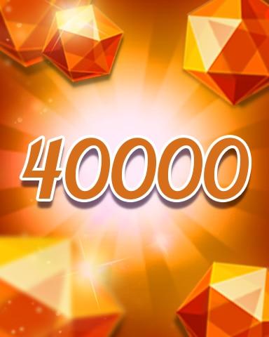 Orange Jewels 40000 Badge - Jewel Academy