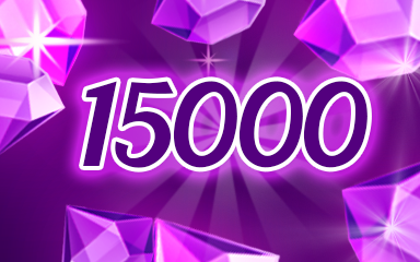 Purple Jewels 15000 Badge - Jewel Academy