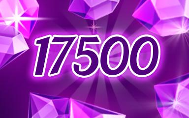 Purple Jewels 17500 Badge - Jewel Academy