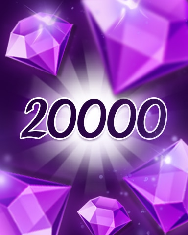 Purple Jewels 20000 Badge - Jewel Academy