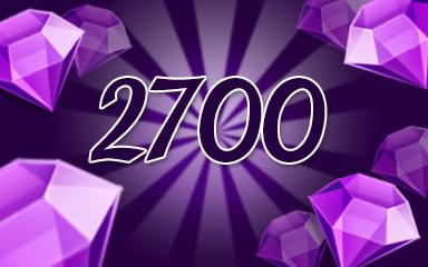 Purple Jewels 2700 Badge - Jewel Academy