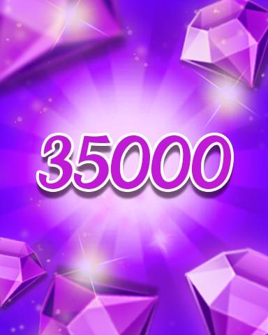 Purple Jewels 35000 Badge - Jewel Academy