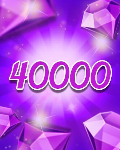Purple Jewels 40000 Badge - Jewel Academy