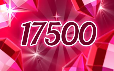Red Jewels 17500 Badge - Jewel Academy