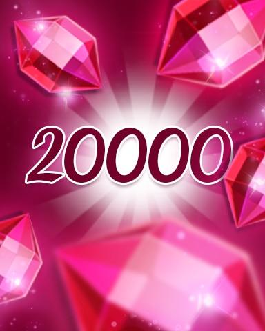 Red Jewels 20000 Badge - Jewel Academy