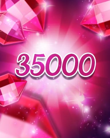 Red Jewels 35000 Badge - Jewel Academy
