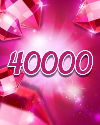 Red Jewels 40000 Badge - Jewel Academy