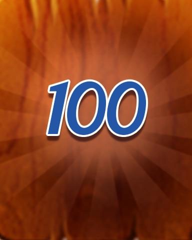 Wood 100 Badge - Jewel Academy