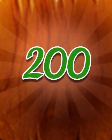 Wood 200 Badge - Jewel Academy