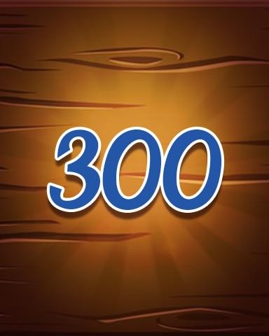 Wood 300 Badge - Jewel Academy