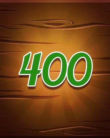 Wood 400 Badge - Jewel Academy