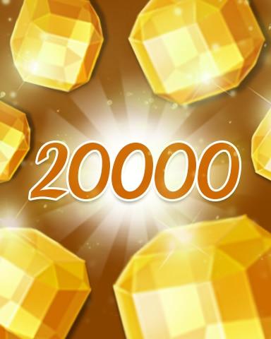 Yellow Jewels 20000 Badge - Jewel Academy