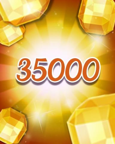 Yellow Jewels 35000 Badge - Jewel Academy