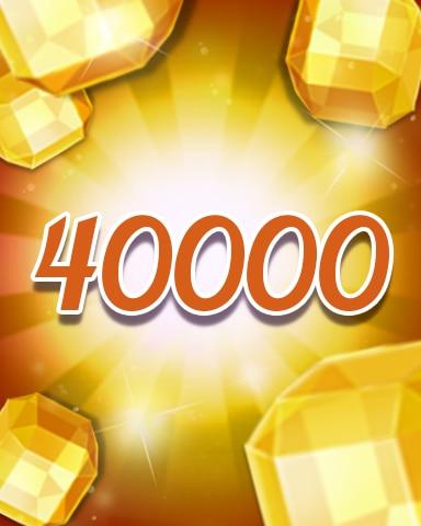Yellow Jewels 40000 Badge - Jewel Academy