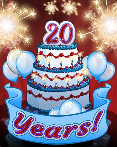 Pogo 20th Birthday Badge