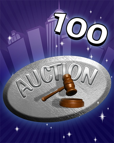 Auction Ace Badge - Dice City Roller HD