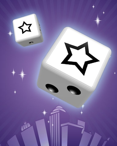 Starry Eyed Badge - Dice City Roller HD