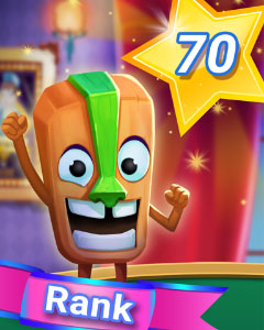 Rank 70 Badge - Prolific Player! - Pogo Addiction Solitaire HD