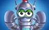 Robot Level 1 Badge - Poppit! Party