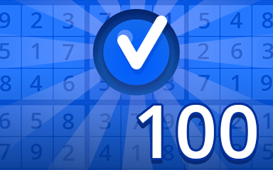 Beginner 100 Badge - Pogo Daily Sudoku