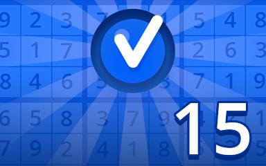 Beginner 15 Badge - Pogo Daily Sudoku