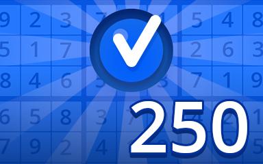 Beginner 250 Badge - Pogo Daily Sudoku