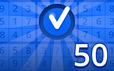 Beginner 50 Badge - Pogo Daily Sudoku