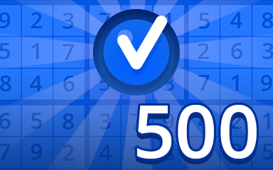Beginner 500 Badge - Pogo Daily Sudoku