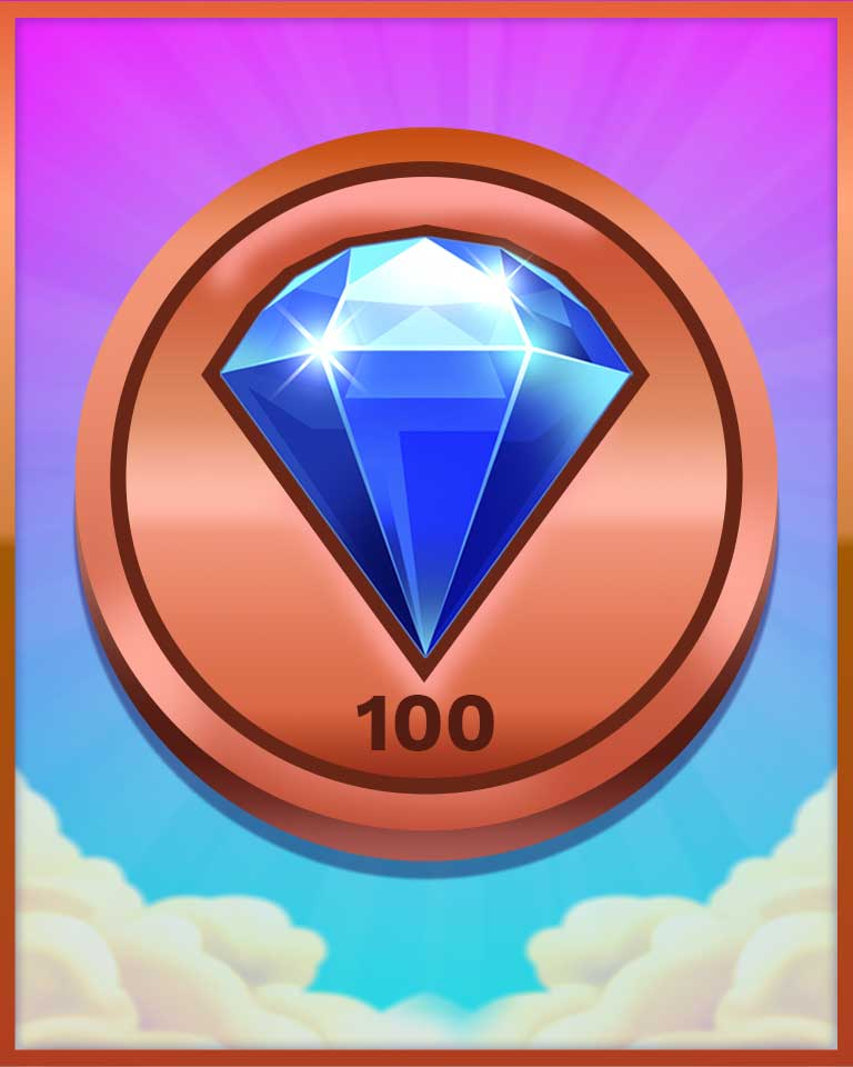 Bronze Victor Badge - Bejeweled Stars