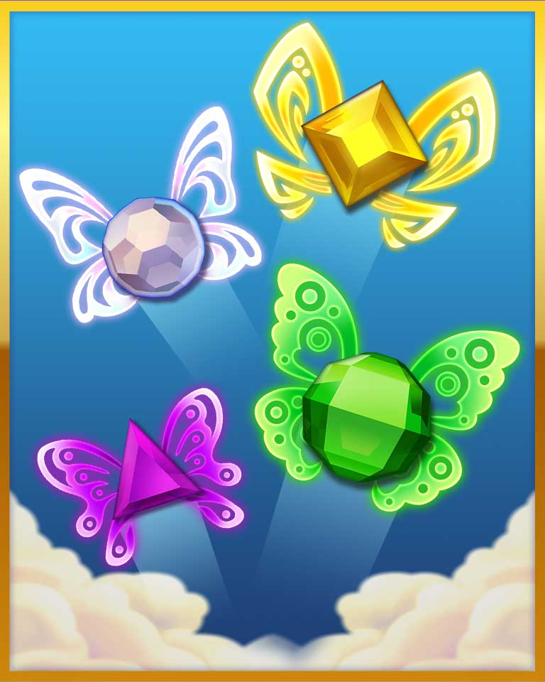 Pretty Wings Badge - Bejeweled Stars