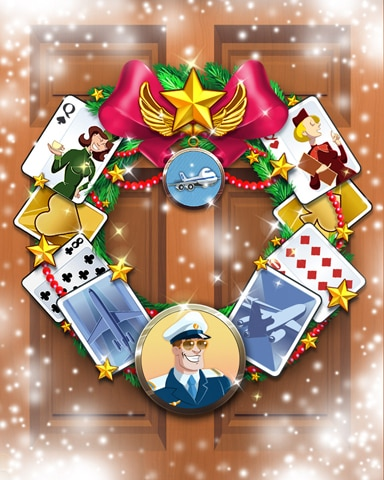 Golden Wings Wreath Badge - First Class Solitaire HD