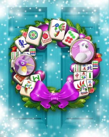 Harmony's Holiday Wreath Badge - Mahjong Sanctuary