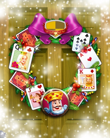 Courtly Celebration Wreath Badge - Payday Freecell HD
