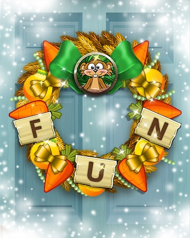Charming Carrot Wreath Badge - Word Whomp HD