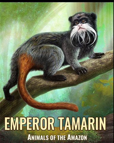 Emperor Tamarin Monkey Badge - Tri-Peaks Solitaire HD