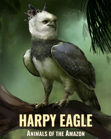 Harpy Eagle Badge - Mahjong Garden HD