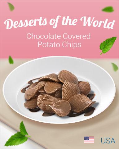 Chocolate Covered Potato Chips World Dessert Badge - Jewel Academy