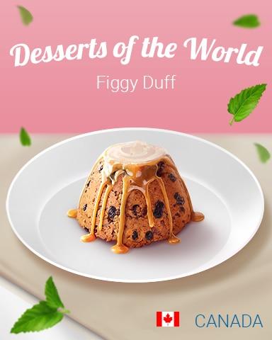 Figgy Duff World Dessert Badge - Claire Hart: Secret In The Shadows