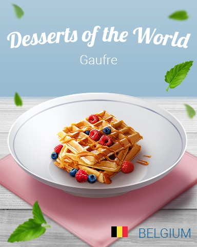 Gaufre World Dessert Badge - Aces Up! HD
