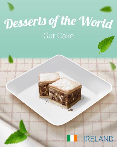 Gur Cake World Dessert Badge - Mahjong Safari HD
