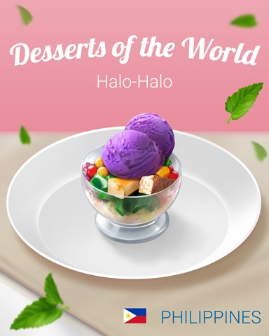 Halo-Halo World Dessert Badge - First Class Solitaire HD